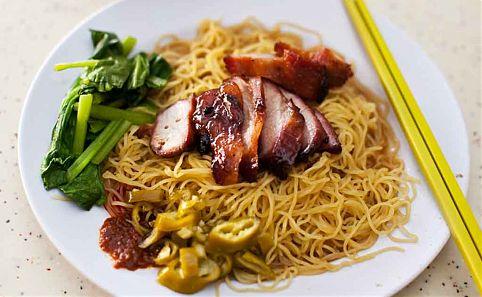 Wanton Mee noodles