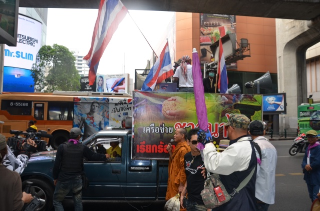 Anti-governmental protestors in Bangkok.