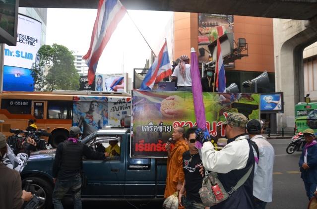 Anti-governmental protestors in Bangkok.