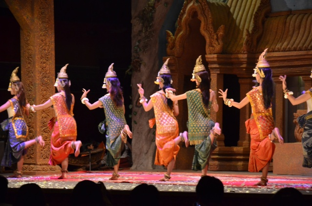 Khmer Cultural dancers at Koulen II Restaurant in Siem Reap.