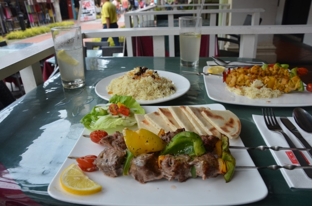 A Persian meal on Arab street, Singapore.
