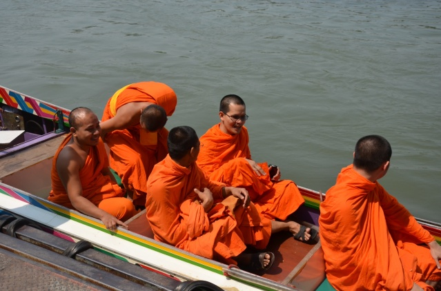 Buddhist monks on River Kwai