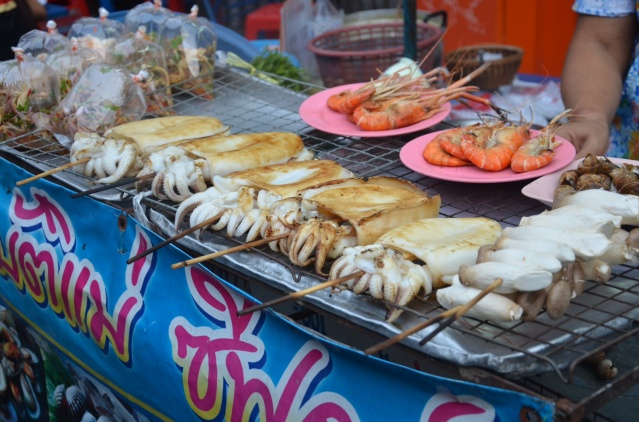 Seafood at Khao San Road.