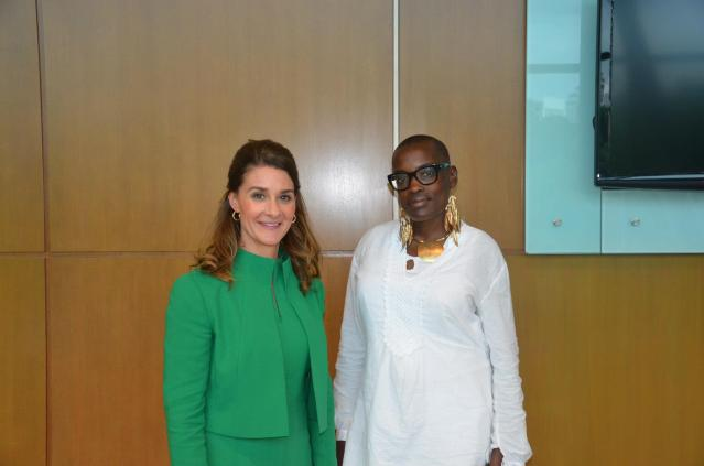 With Melinda Gates, co-chair of the Bill & Melinda Gates Foundation. — at Kuala Lumpur Convention Centre.