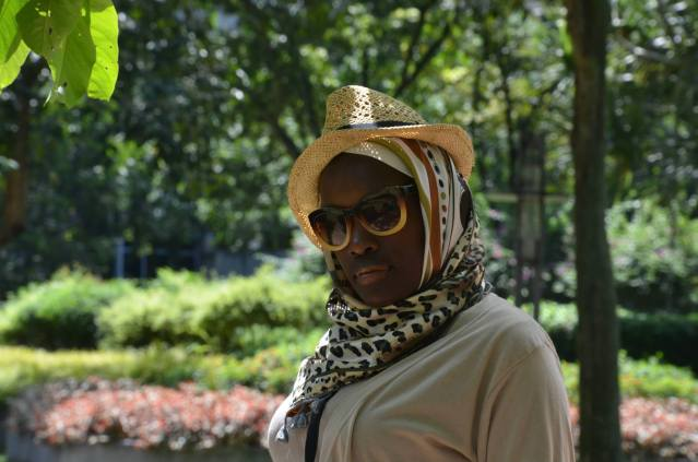 The hijab accesorized with a hat.