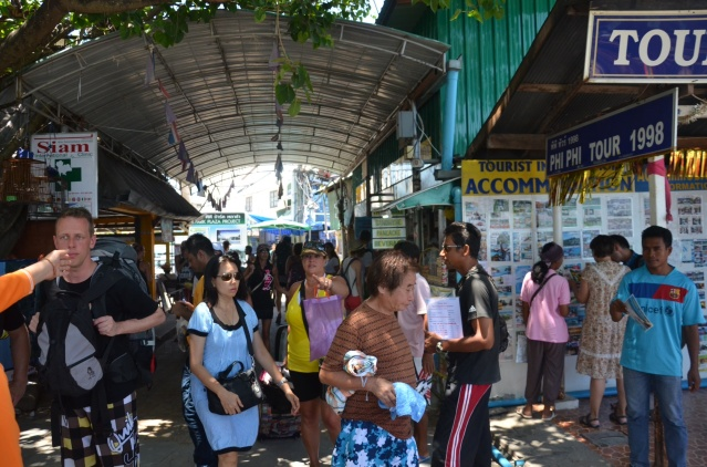 Walking around Phi Phi island