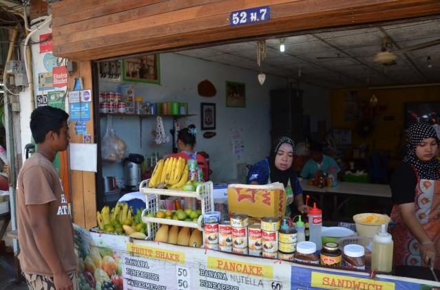 Food stand on Phi Phi island