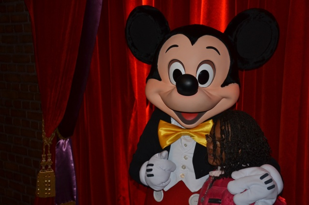 Meet and greet with Mickey Mouse