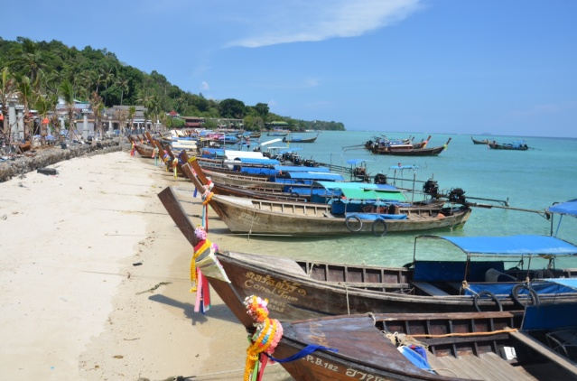 Boats at the beach, Phi Phi islands