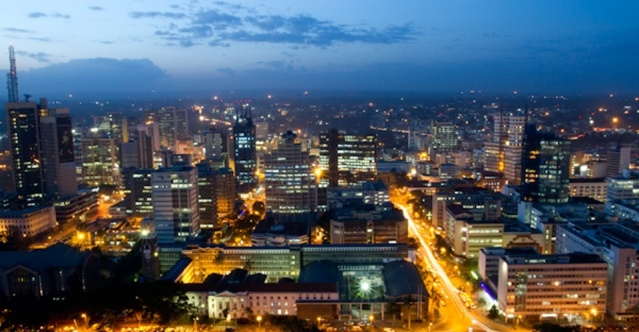 Nairobi at night. (Picture courtesy of KICC)