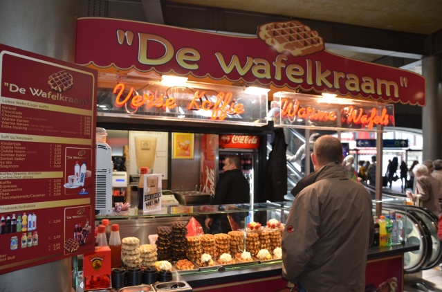 Waffles at Antwerp Central Station