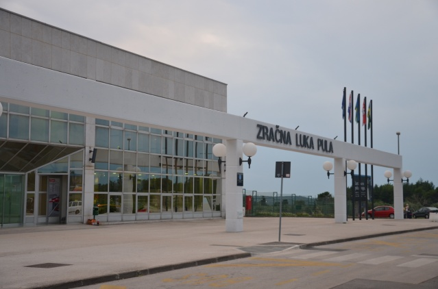 The airport at Pula, Croatia