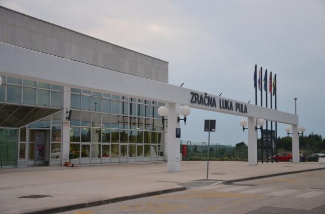 The airport at Pula, Croatia