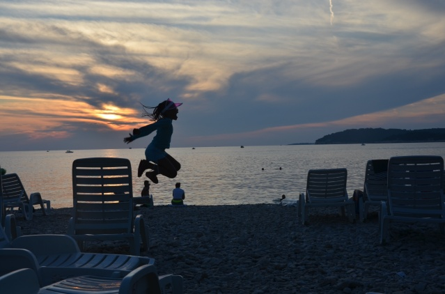 Sunset at Verudela beach, Pula