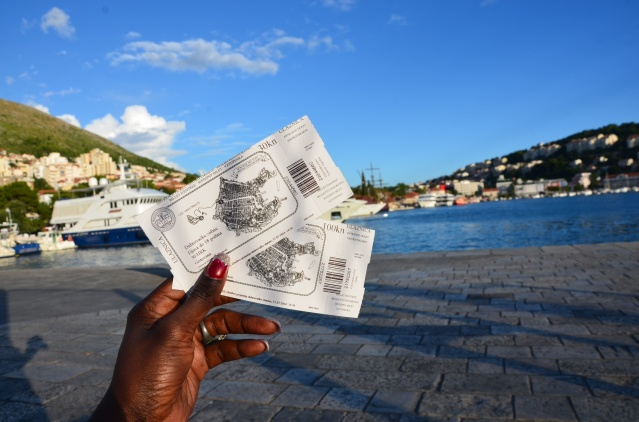 Tickets to a tour of Dubrovnik