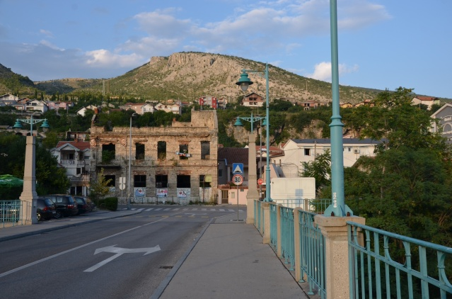 Shell of a building in Mostar