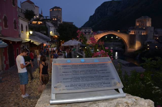 Old Bridge Area of the Old City of Mostar on the UNESCO World Heritage List