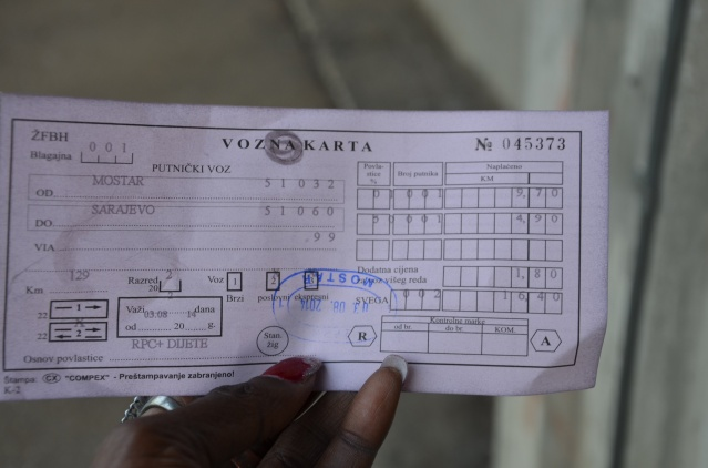 Mostar to Sarajevo train ticket