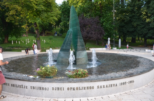 Memorial for the children killed during the war between 1992-1995