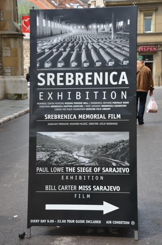 Srebrenica massacre exhibition