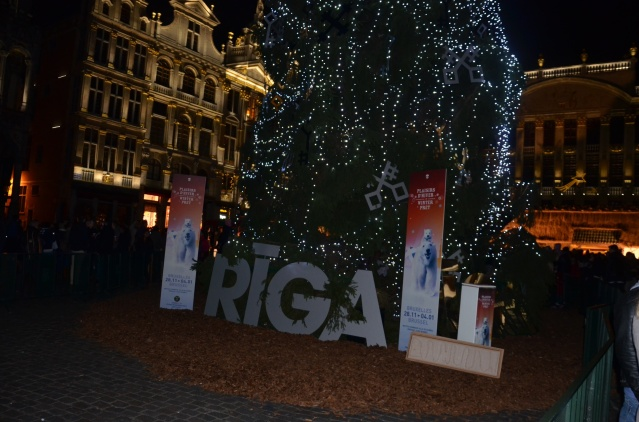 The Christmas tree, a gift from the City of Riga.