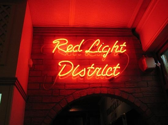 The Red Light District 'set' (picture courtesy of Pink Haylx, July 2007).