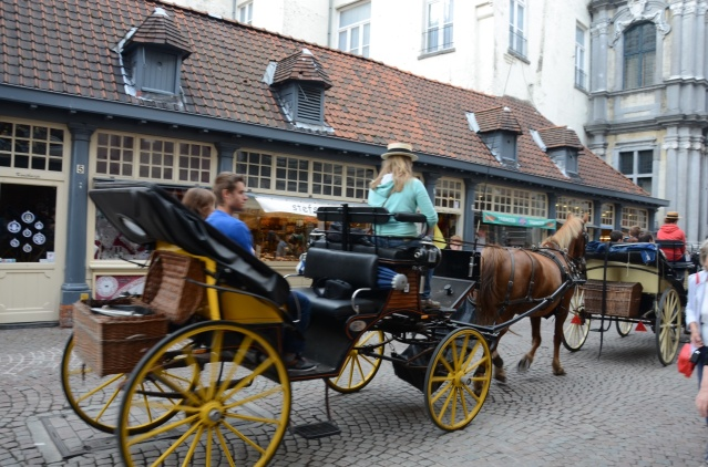 Horse drawn carriages are in plenty in Brugge