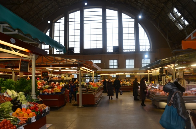 Central market, Riga..indoors, were formerly airplane hangars.