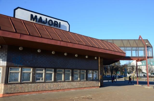 Majority train station; the stop at Jurmala