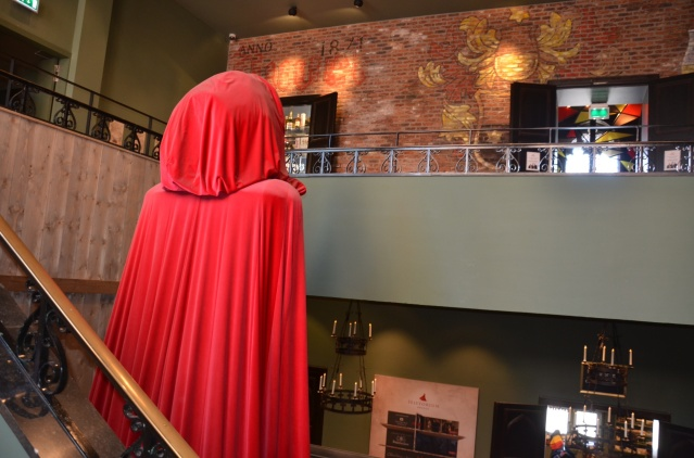 Giant hooded Mediaeval person.