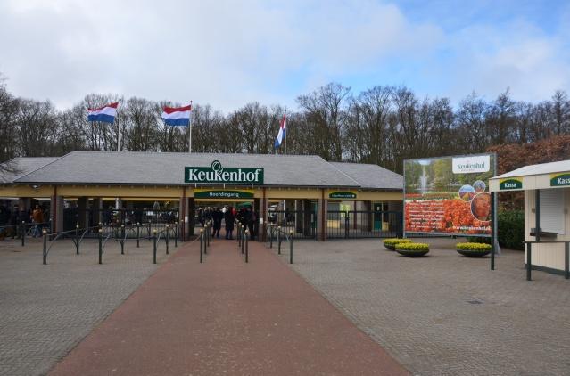 Entrance to Keukenhof flower park at Lisse.