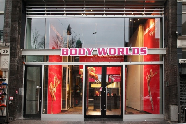 Entrance to the Body Worlds Exhibition at Damrak Amsterdam (image courtesy of Body Worlds Amsterdam)