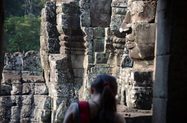 Solo female traveller at Angkor Wat, Cambodia