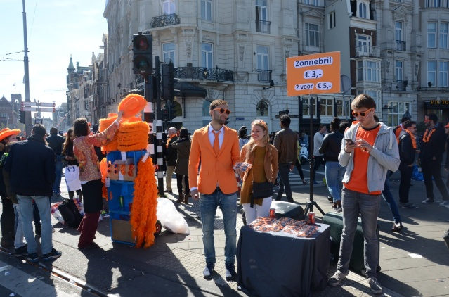 Selling stuff, King's Day Amsterdam, 2015