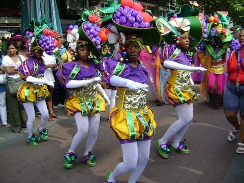 Dancing at the Rotterdam carnival, the Netherlands