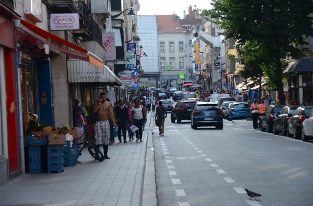 A street in Matonge, Brussels
