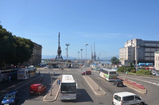 The bus terminal in Rijeka