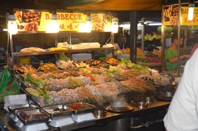 Barbecue food, Chinatown, Malaysia.
