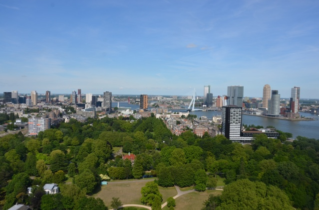 The Rotterdam skyline from the euromast.