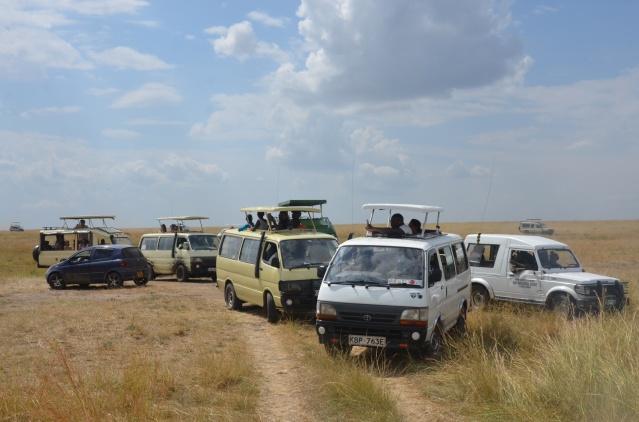 Masai Mara game drive vans