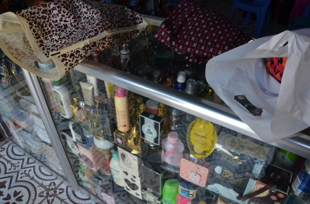 Shopping at a clothing and perfumery store, Mogadishu