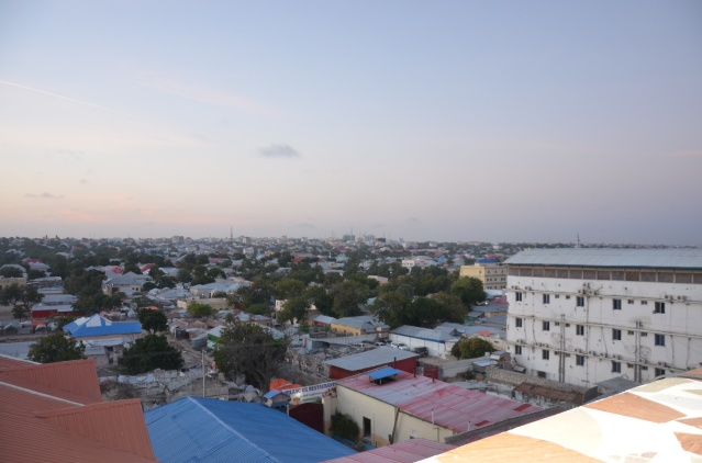 Rooftop view of Mogadishu