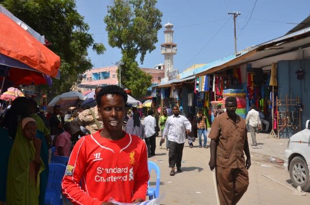 Locals at Xamar wayne market, Mogadishu.