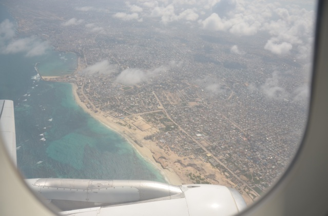 Views of the coastline and Mogadishu city