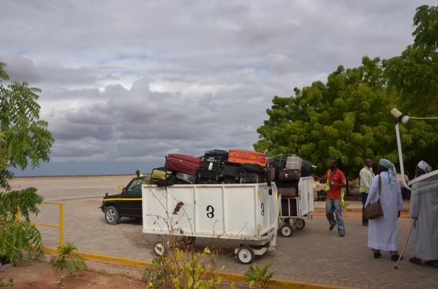 Bags screened manually in Wajir