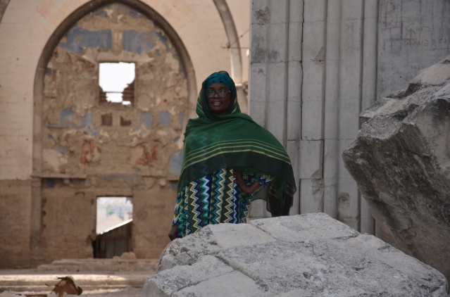 Standing infront of the Mogadishu cathedral