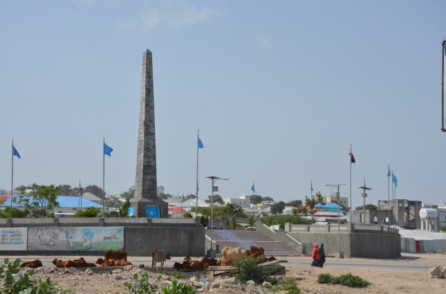 The Daljirka Dahson monument, Mogadishu