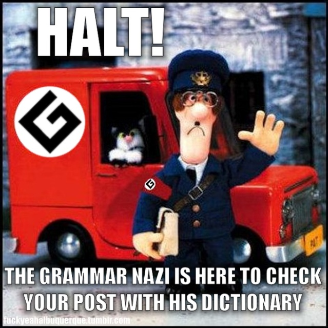 Grammar Nazi meme @ know your meme website.