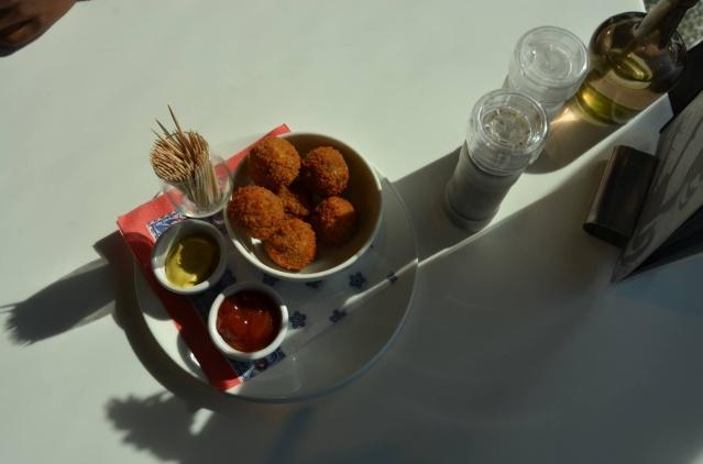 A dutch snack of bitterballen.