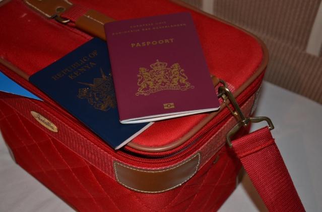 Kenyan and Netherlands passports.